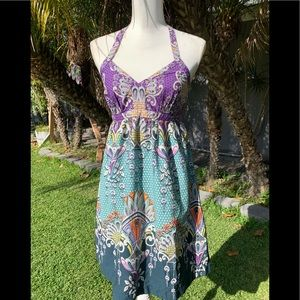 """""""EXPRESS YOURSELF"""" Dress by Express 💜💛💚"""